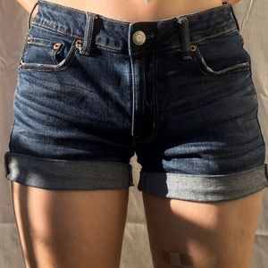 like new american eagle denim shorts